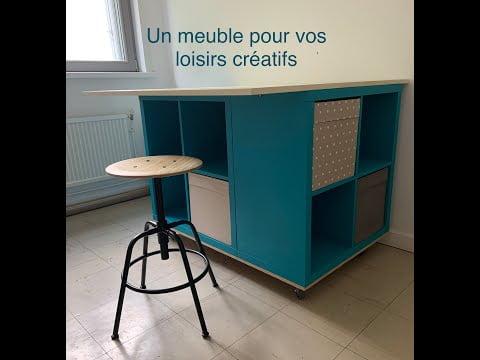 TUTO MEUBLE POUR LOISIRS CREATIFS (DIAMOND PAINTING – SCRAPBOOKING – COUTURE…) AVEC KALLAX DE IKEA