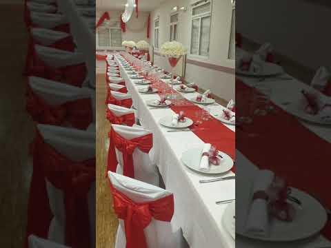 Decoration mariage en rouge et blanc par traiteur événement  lydia Bureau