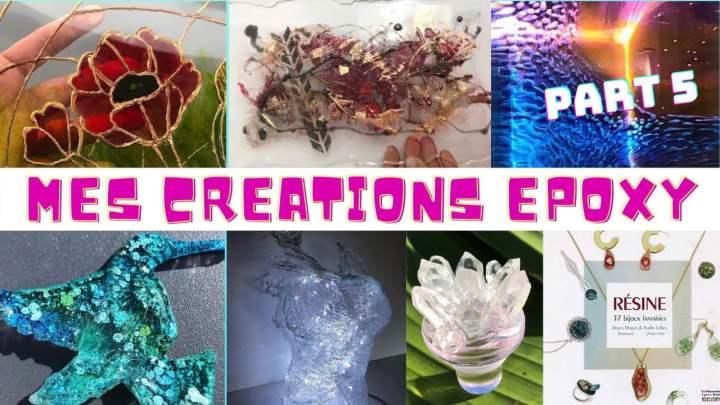 CREATIONS EN RESINE EPOXY FULL EPOXY ART PART 5