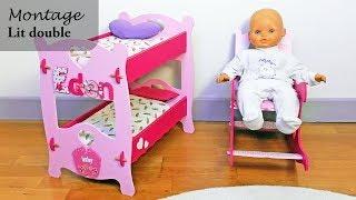 DIY – Tutoriel pour monter un lit double pour poupées en bois – jouets – enfants