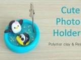 Cute Penguin Photo Holder Tutorial / Tuto Fimo Porte-photo Mignon