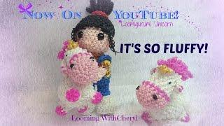 Rainbow Loom Agnes Unicorn «It's so FLUFFY» Loomigurumi /Amigurumi Hook Only Лумигуруми