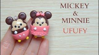 DIY Mickey & Minnie Ufufy / Tuto Fimo