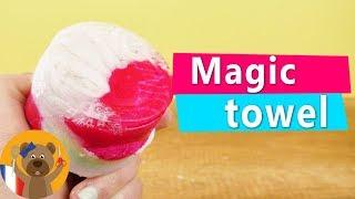 Serviette magique DIY | Super idée cadeau avec du savon | Serviette Licorne idée DIY