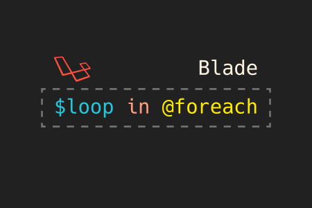 loop variable in foreach in Laravel