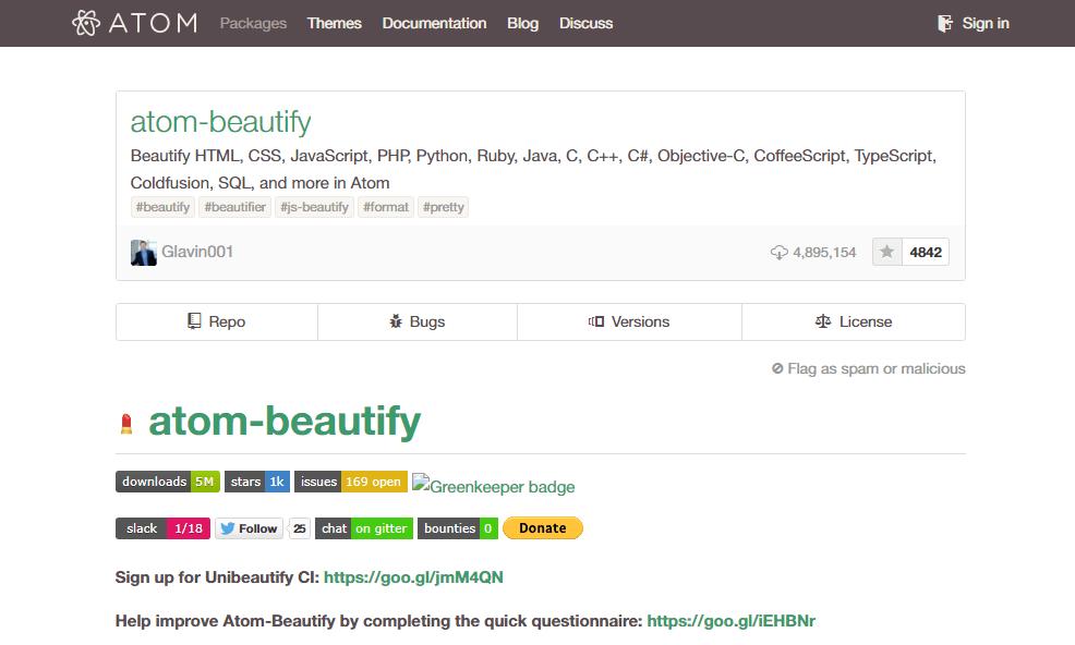 Atom Beautify