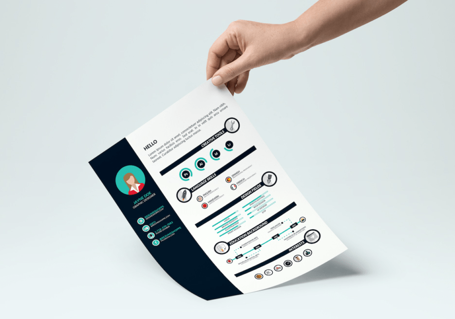 Infographic Resume Template Vector