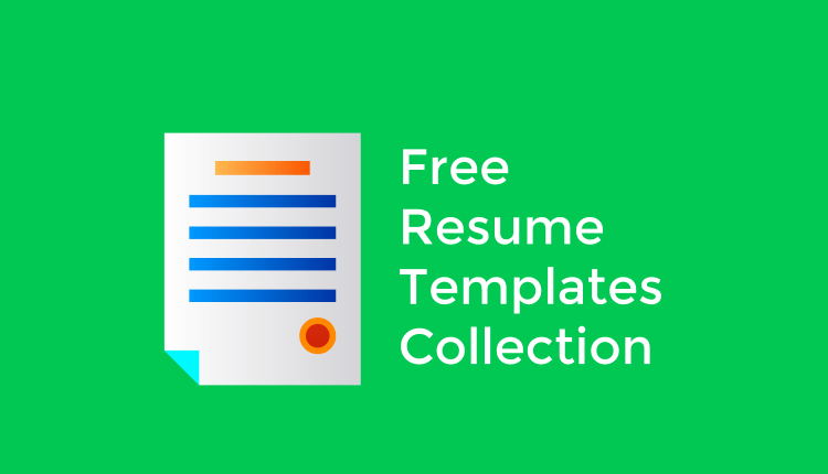 Free Job Resume Template | Ultimate Collection Of Free Professional Resume Templates Tutsforweb