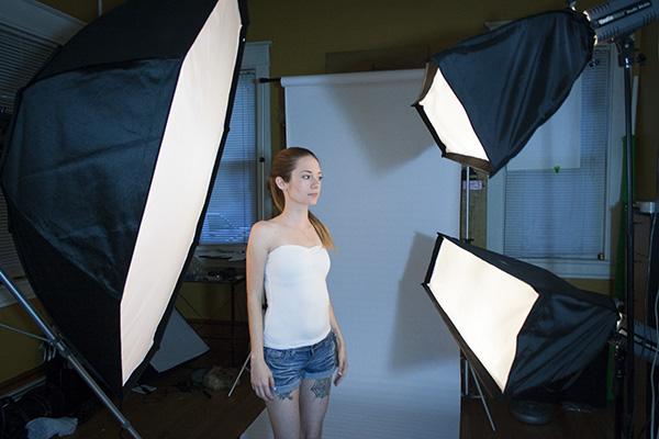 Three Light Portrait Setup
