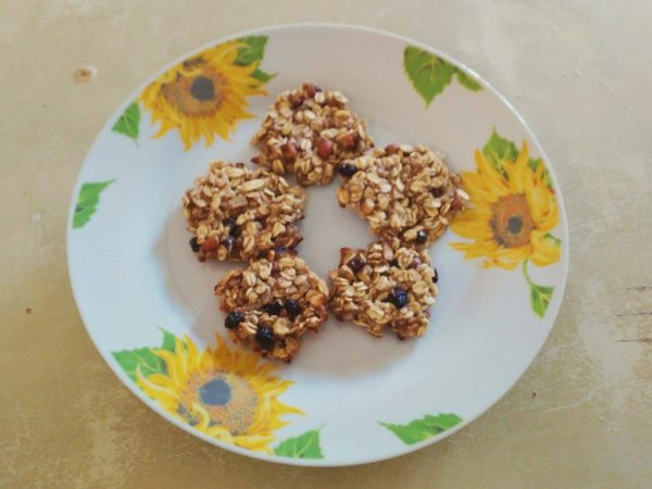 biscotti 3 ingredienti cookies three ingredients banana oats fiocchi d'avena healthy fit vegan