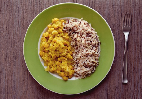 curry di ceci vegetariano ricetta chickpea legumi