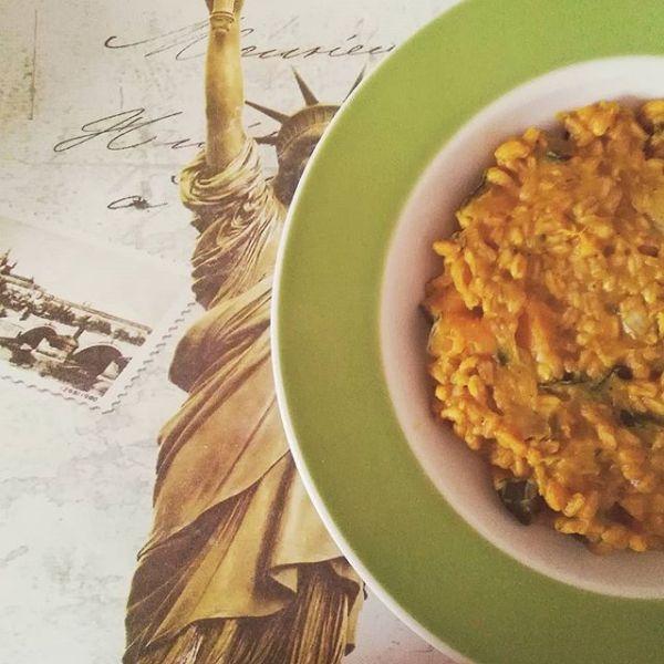 farro risotto zucca ricetta light