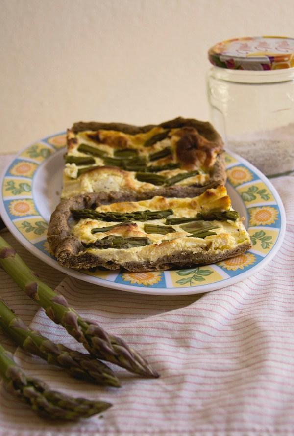 pasta brisée vegana grano saraceno asparagi torta salata ricotta picnic