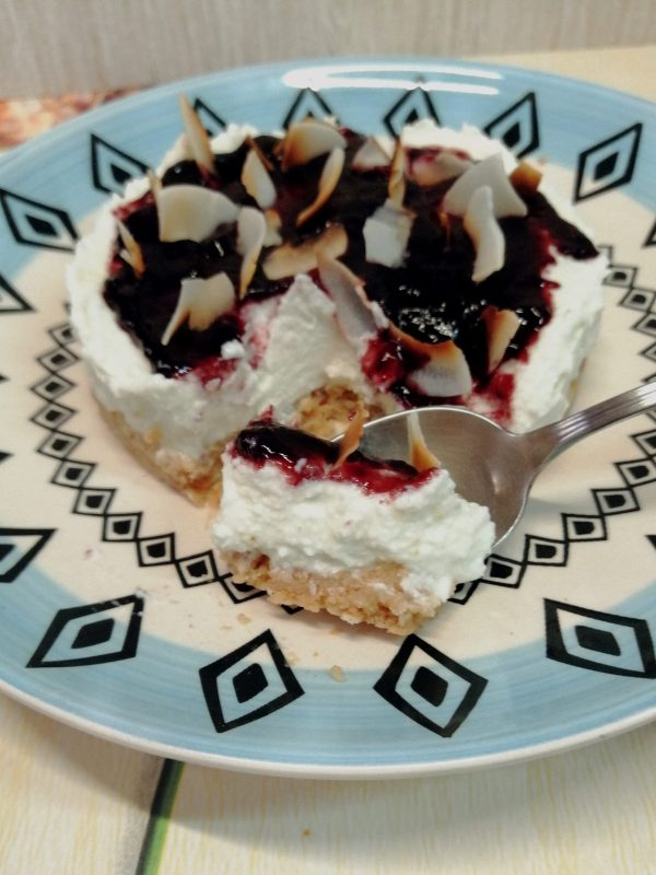 ricetta base fit cheesecake fette biscottate yogurt greco skyr