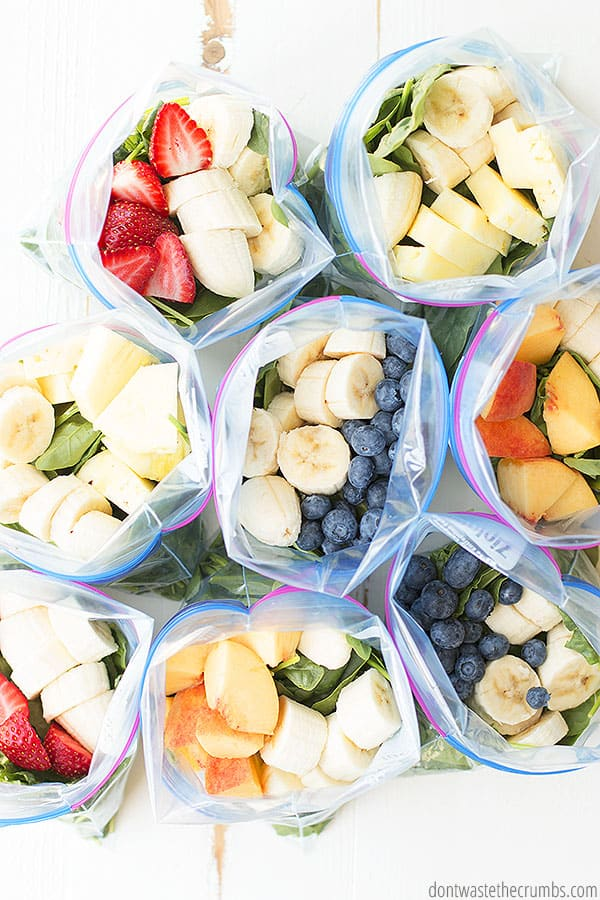smoothie bag freezer colazioni sane meal prep