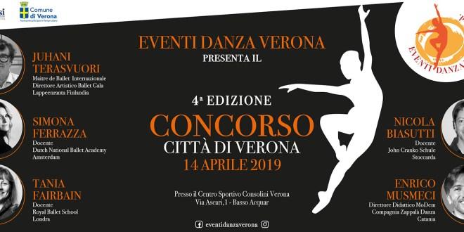 Concorso di danza Città di Verona: appuntamento il 14 aprile 2019
