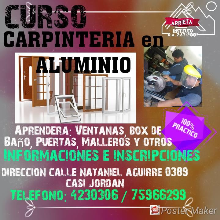CURSOS DE CARPINTERÍA EN ALUMINIO