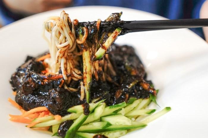 |花蓮市區美食|黑色會韓式炸醬專賣-韓式炸醬裡的豬肉塊好喜歡啊(已搬家)