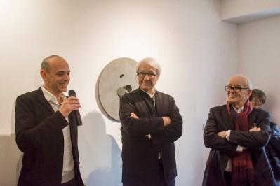 Loic Graber, Adjoint à la culture de la Ville de Lyon, Alain Le Gaillard, Président de la Fondation Tutundjian, Jean-Pierre Claveranne, Président de la Fondation Bullukian