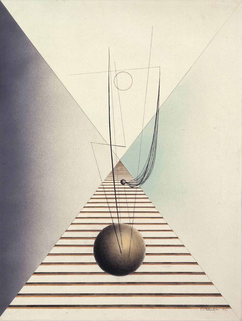 Sans titre, 1927, encre et aquarelle sur papier, 64 x 49,5 cm