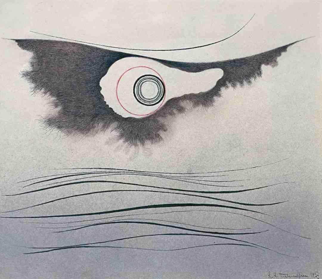 Sans titre, 1927, gouache et encre de chine sur papier, 27 x 31 cm, collection privée