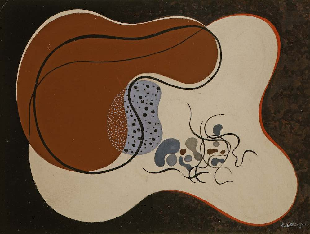 Untitled, 1928, gouache on cardboard, 24,5 x 32,8 cm, private collection