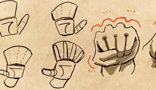 手の描き方は観察が大事。3つのパーツで簡単に手を描く方法