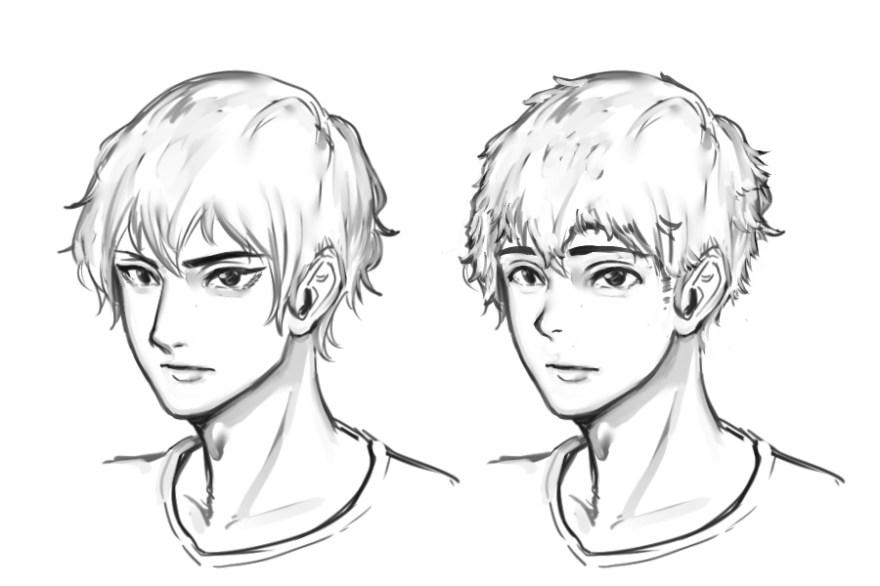イケメン顔の描き方1
