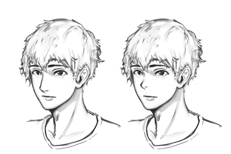 イケメン顔の描き方3
