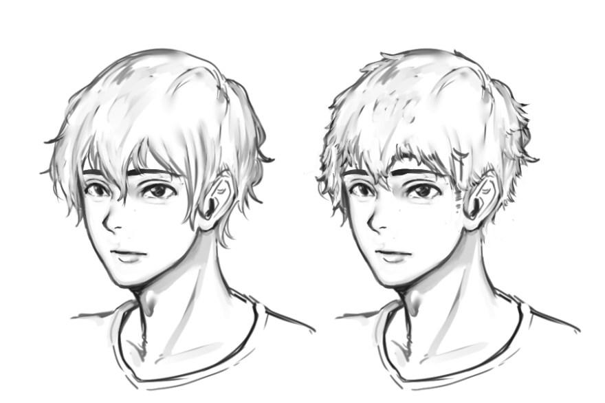 イケメン顔の描き方4