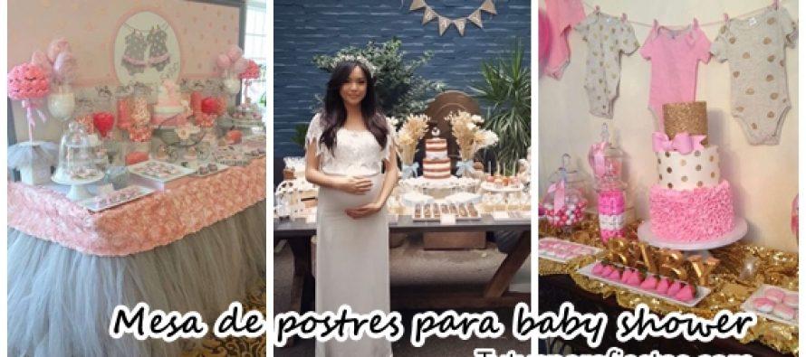 Mesa De Baby Shower Postres Para