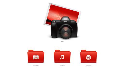 Exclusive Vector Freebie: Soda Red Mac OS Icons Tutvid.com