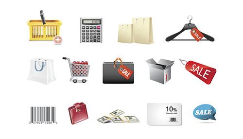 Shopping Icons ~ Brand new set!