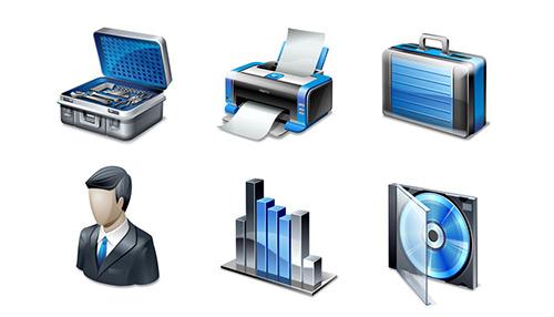 Six Blue Icons