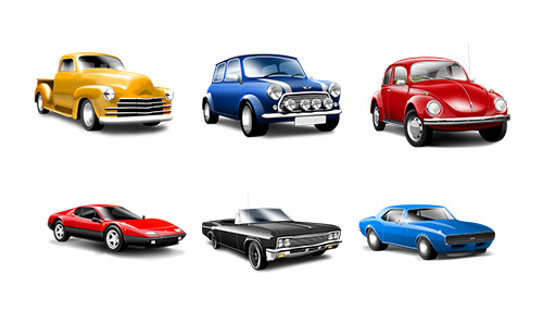Car Series Detailed PNG Icons