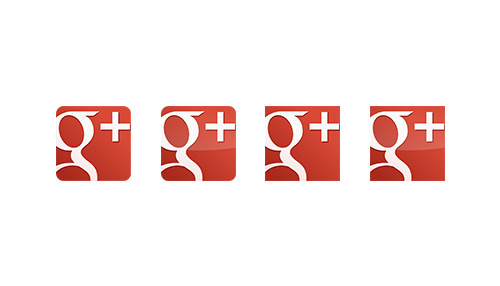 New Red Google Plus or Page Vector Icon Pack For Free