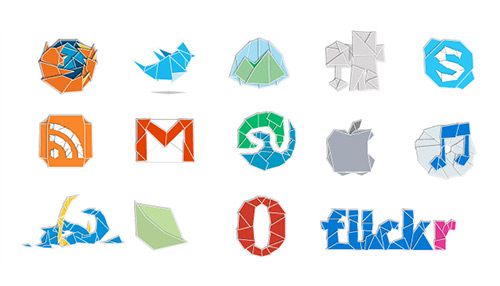 Web 2.0rigami Social Media Icons