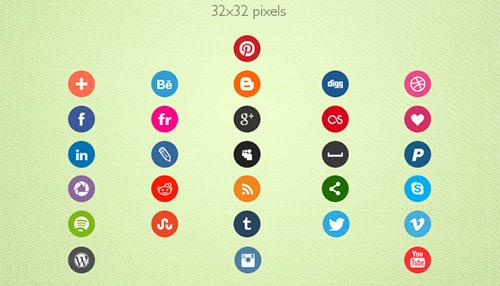 29 Social Media Icons