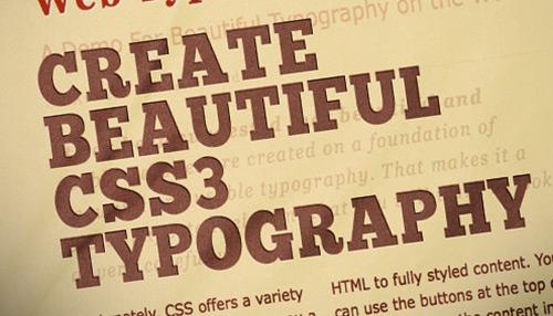 Create Beautiful CSS3 Typography