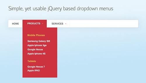 Tutorial - Simple, yet usable jQuery based dropdown menu