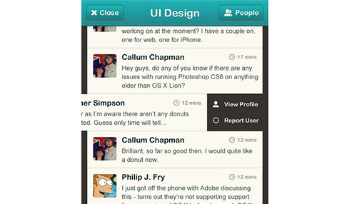 Photoshop Tutorial: How to design a chatroom iPhone UI