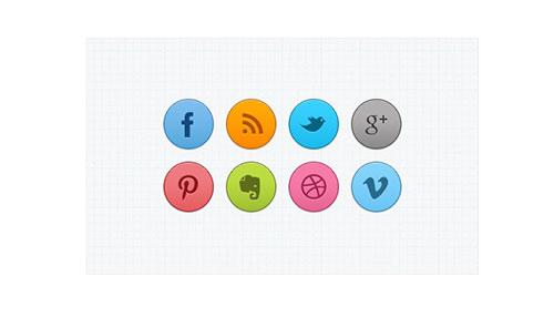 Free Circle Social Media Icons PSD