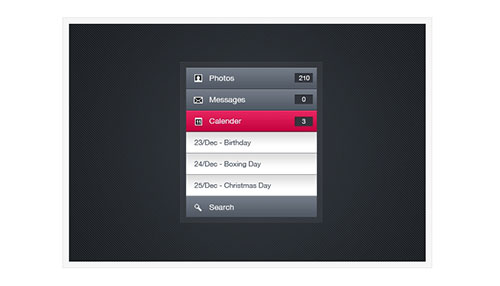 iPhone Inspired Menu/Navigation
