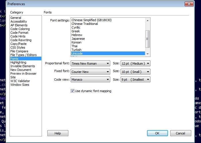 Change Code Color Theme - Dreamweaver CS6