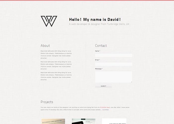 11. Create A Minimal Single Page Portfolio With HTML5/CSS3