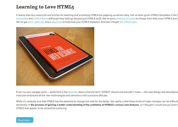 21. Road Map To Coding With HTML5: Tutorials and Guidelines