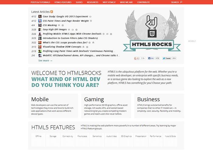 27. HTML5 Rocks