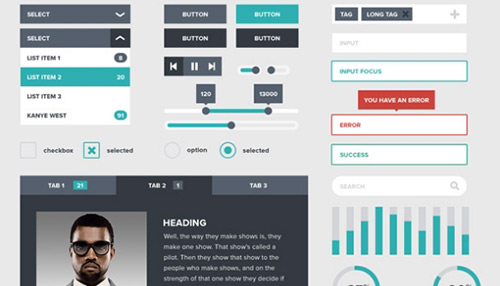 20 Free UI Kits & Icons For Your Flat Web Designs