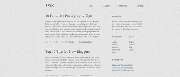Create a Typography Based WordPress Blog Theme