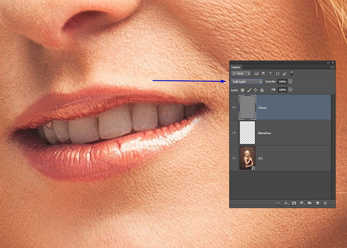 Making Glossy Lips - Photoshop Tutorial